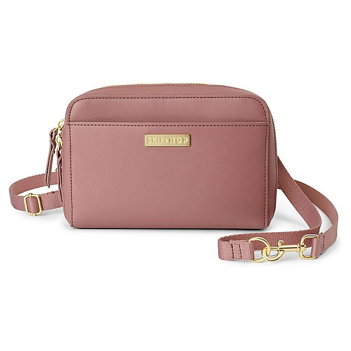 Alternate image 1 for SKIP*HOP® Greenwich Convertible Hip Pack Diaper Bag in Dusty Rose