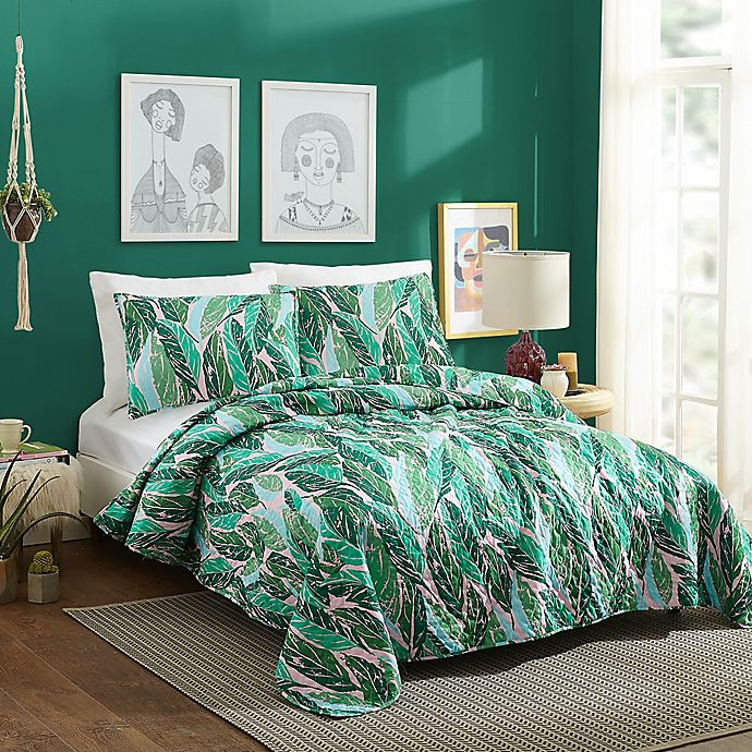 Alternate image 1 for Justina Blakeney Nana Twin XL Quilt Set in Green