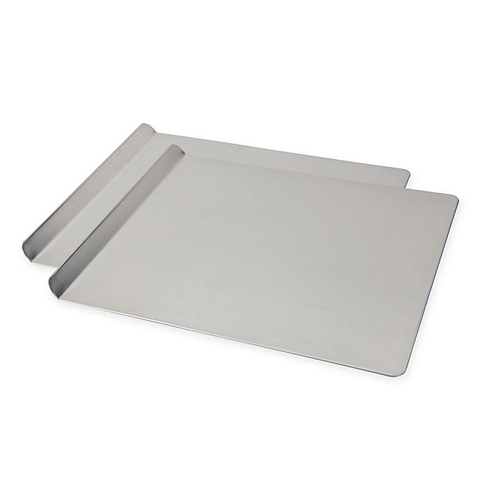 Alternate image 1 for T-Fal® AirBake 16-Inch x 14-Inch Cookie Sheet in Silver (Set of 2)