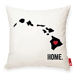 Posh365® Hawaii Square Throw Pillow in Cream