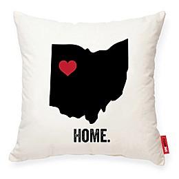 Posh365® Ohio Square Throw Pillow in Cream