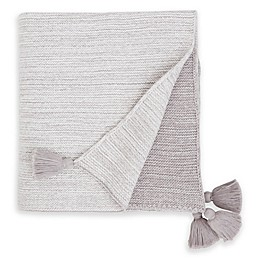Elegant Baby® Ombre Cotton Knit Blanket in Grey