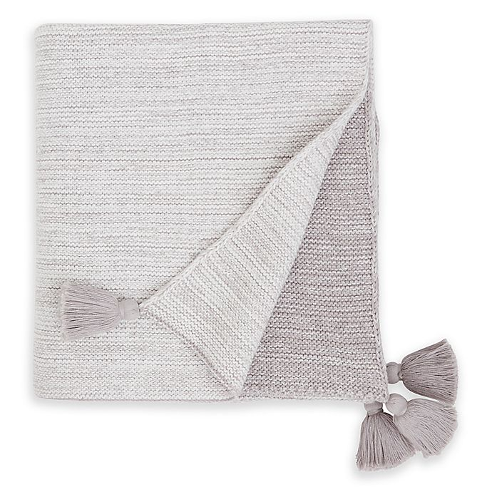 Alternate image 1 for Elegant Baby® Ombre Cotton Knit Blanket in Grey