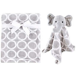 Hudson Baby® Elephant Plush Security Blanket Set in Grey