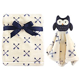 Hudson Baby® Owl Plush Security Blanket Set in Blue