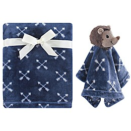 Hudson Baby® Hedgehog Plush Security Blanket Set in Blue