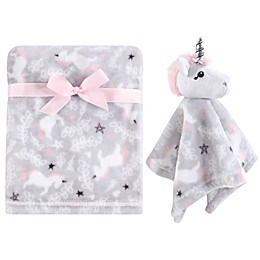 Hudson Baby® Unicorn Plush Security Blanket Set in Grey