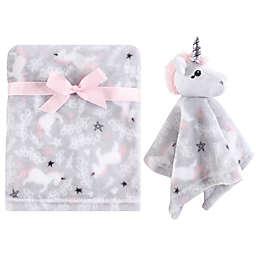 Hudson Baby® Unicorn Plush Security Blanket Set in Grey