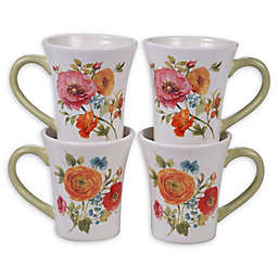 Certified International Country Fresh Mugs (Set of 4)