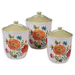 Certified International Country Fresh 3-Piece Canister Set