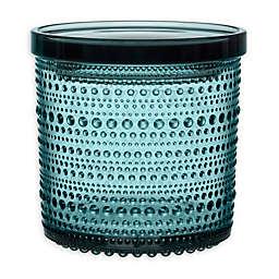 Iittala Kastehelmi Large Jar with Lid in Sea Blue