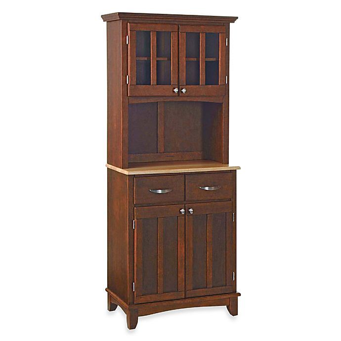 Alternate image 1 for Home Styles Natural Wood Top Small Buffet/Server with Hutch