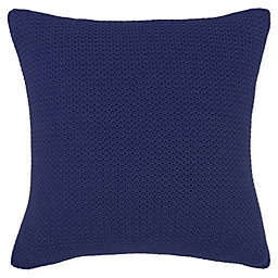Frette At Home Mimosa Square Throw Pillow in Sapphire