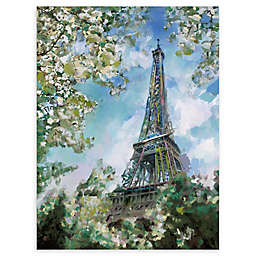 Eiffel View 24-Inch x 36-Inch Wrapped Canvas Wall Art