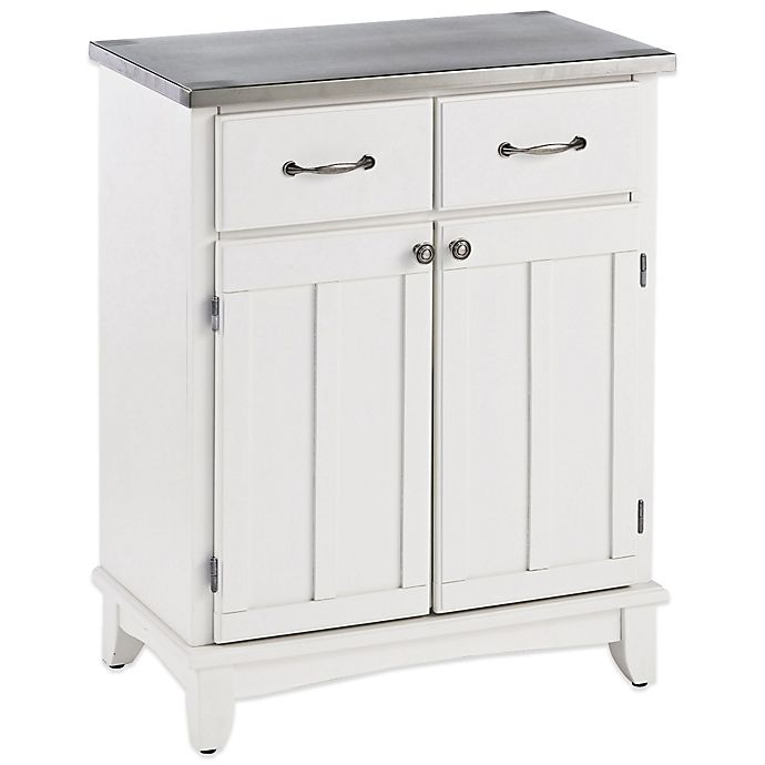 Alternate image 1 for Home Styles Small Buffet/Server with Stainless Steel Top
