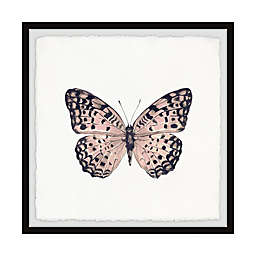 Marmont Hill Pink and Black Butterfly Framed Wall Art