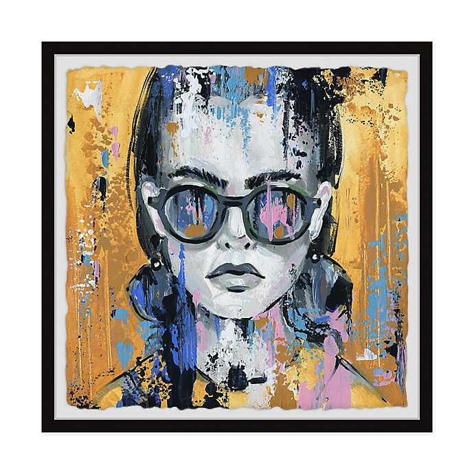 Marmont Hill Girl In Sunglass Framed Wall Art Bed Bath