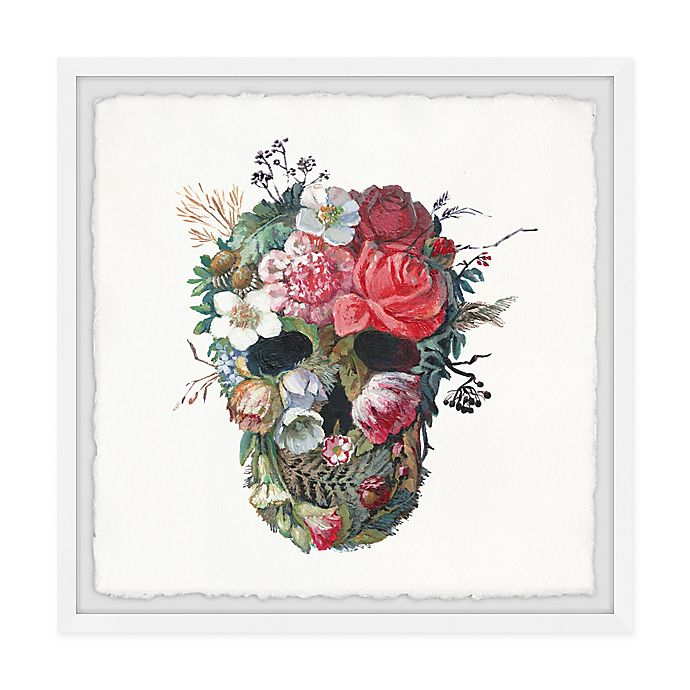 Alternate image 1 for Marmont Hill Flower Face 24-Inch Squared Framed Wall Art