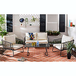 Safavieh Benjin 4-Piece Patio Conversation Set