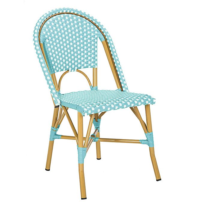 Alternate image 1 for Safavieh Salcha Indoor-Outdoor French Bistro Stacking Side Chairs (Set of 2)