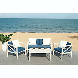 Safavieh Nunzio 4-Piece Outdoor Seating Conversation Set