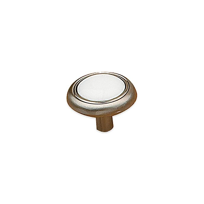 Alternate image 1 for Richelieu Royal Family Knob in Brushed Nickel and White