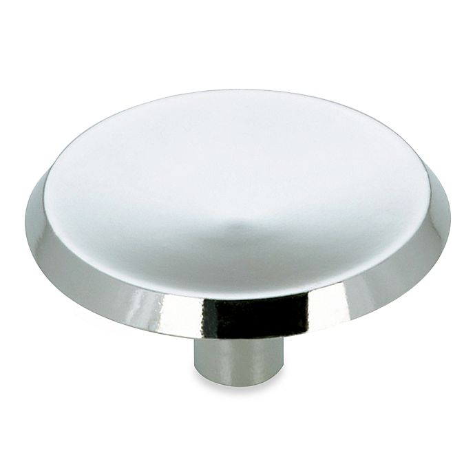 Alternate image 1 for Richelieu Modern Cabinet Knob in Chrome