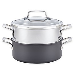 Anolon® Authority™ 5 qt. Covered Dutch Oven with Stainless Steel Steamer Insert