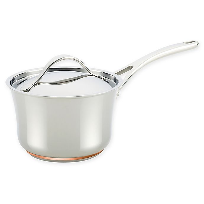 Alternate image 1 for Anolon® Nouvelle Copper Stainless Steel 3.5 qt. Covered Saucepan