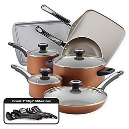 Farberware® High Performance Nonstick Aluminum 17-Piece Cookware Set in Copper
