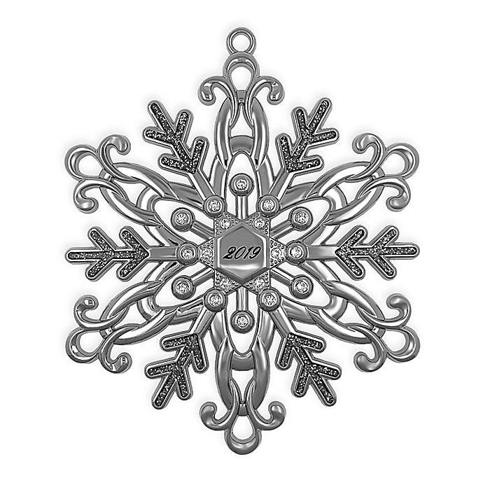 Alternate image 1 for Crystal from Swarovski® Harvey Lewis™ Snowflake 2019 Christmas Ornament