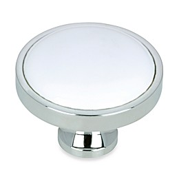 Richelieu Classic Chrome Knob in White