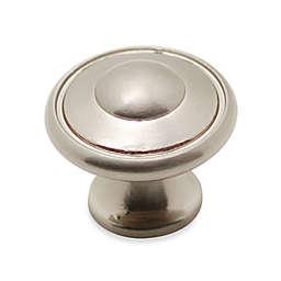 Richelieu Satin Round Knob in Brushed Nickel