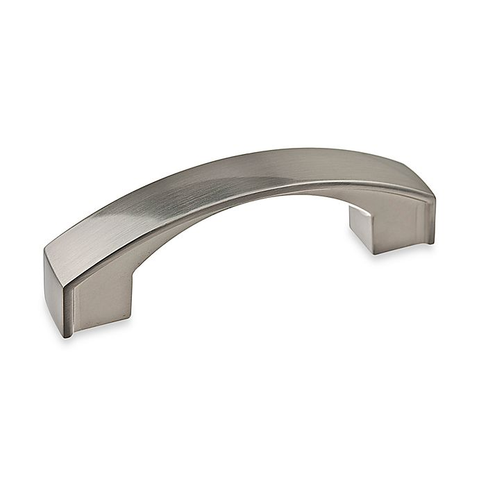 Alternate image 1 for Richelieu 3-Inch Satin Nickel Flat Arch Pull