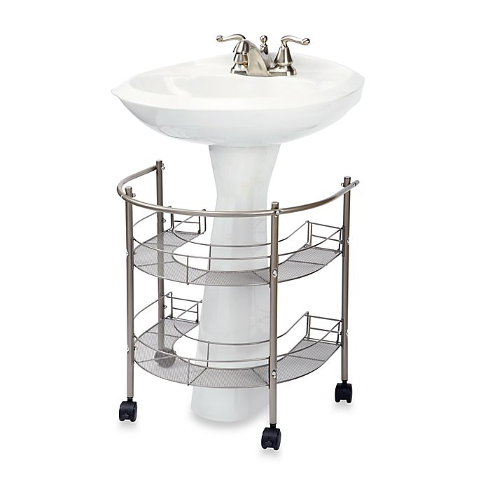 Alternate image 1 for Rolling Organizer For Pedestal Sink
