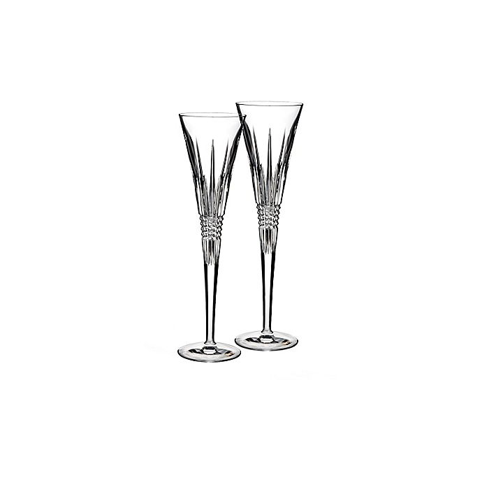 Alternate image 1 for Waterford® Lismore Diamond Toasting Flutes (Set of 2)