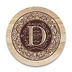 Monogram Letter  D  Coasters (Set of 4)