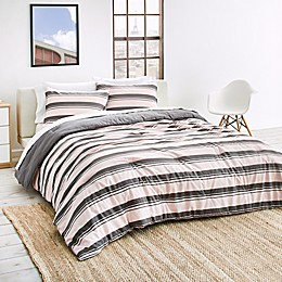 Lacoste Gradient Stripe Reversible Comforter Set