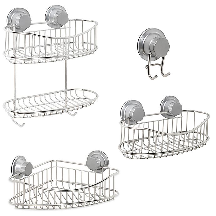 Alternate image 1 for ORG NeverRust® Power Grip Pro™ Stainless Steel Shower Storage Collection