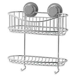 .ORG® NeverRust® Power Grip Pro™ 2-Tier Stainless Steel Shower Basket