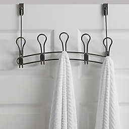 Org Zenna Over The Door 5 Hook Rack In Satin Nickel