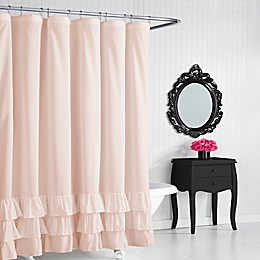 Betsey Johnson® Solid Ruffle Shower Curtain