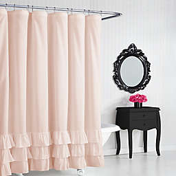 Betsey Johnsonreg Solid Ruffle Shower Curtain