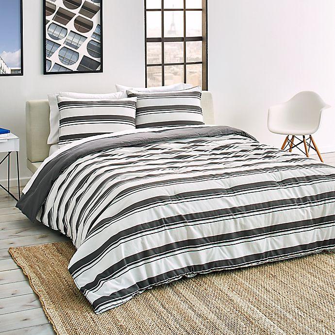 Alternate image 1 for Lacoste Gradient Stripe Reversible Comforter Set