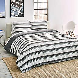 Lacoste Gradient Stripe Reversible Comforter Set