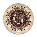 Monogram Letter  G  Coasters (Set of 4)