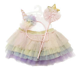 Toby™ Newborn 3-Piece Rainbow Unicorn Headband, Tutu, and Wand Set