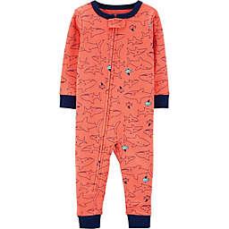 carter's® Shark Pajamas in Orange