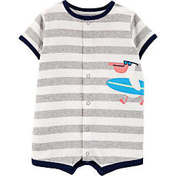 carter's® Surf Pelican Romper in Grey