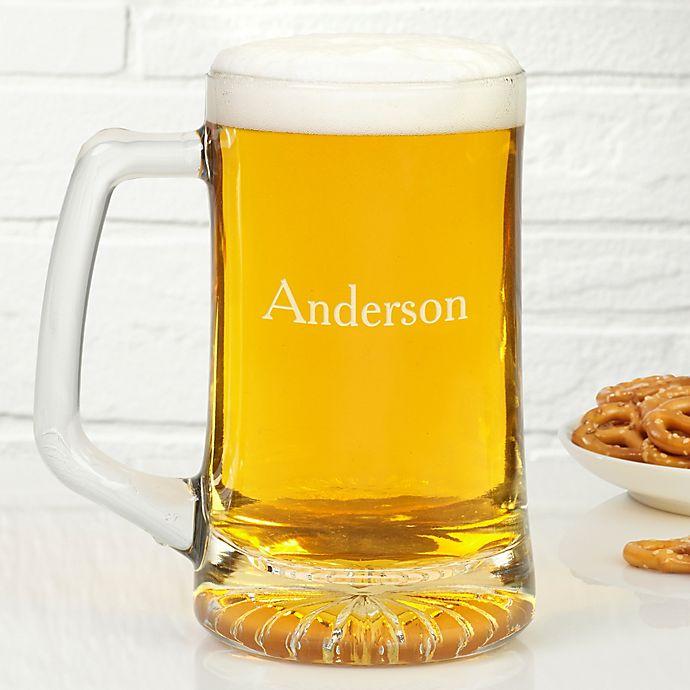 Alternate image 1 for Classic Celebrations 25 oz. Personalized Beer Mug